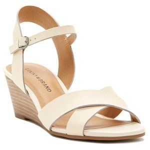 LUCKY BRAND $90 NIB Jaiden Linen Wedge Sandals